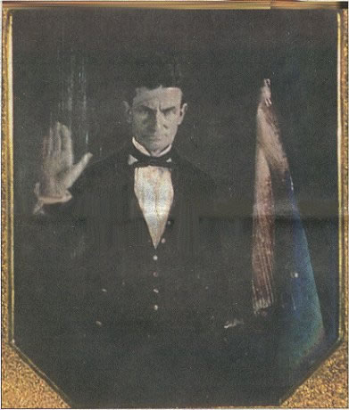 [Daguerrotype: John Brown, 1847, Kansas Heritage Group; All rights reserved.